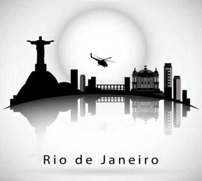 Adesivo Rio de Janeiro Skyline