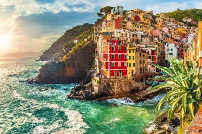 Adesivo Riomaggiore, Cinque Terre, Italia