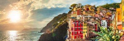 Adesivo Riomaggiore panorama, Cinque Terre, Italia