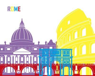 Adesivo Rome skyline schiocco