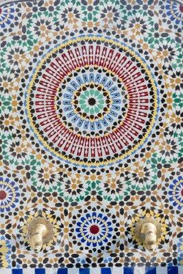 Adesivo rubinetto dell'acqua stile marocchino con mosaici dettagliata