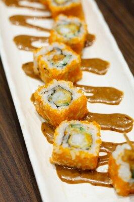 Adesivo rulli di sushi