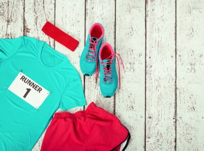 Adesivo Running gear laid out ready for race day