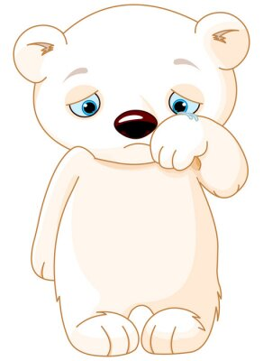 Adesivo Sad Polar Bear