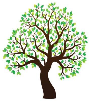Adesivo Sagoma di albero frondoso tema 1