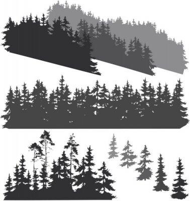 Adesivo sagome della foresta