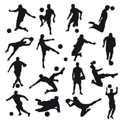Adesivo Sagome di calcio