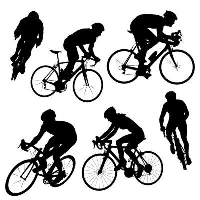 Adesivo sagome di ciclismo
