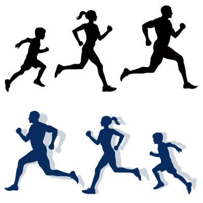 Adesivo sagome famiglia da jogging