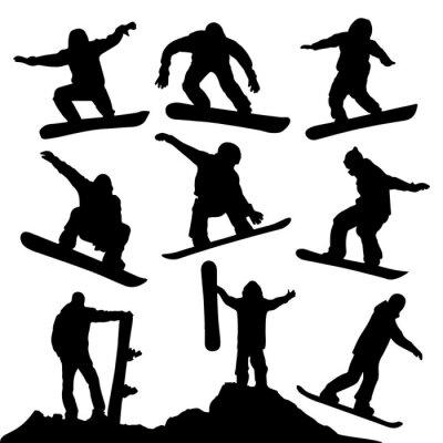 Adesivo Sagome snowboard