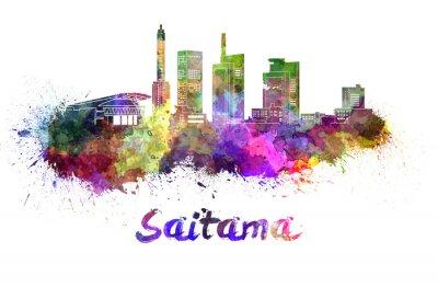 Adesivo Saitama orizzonte in acquerello