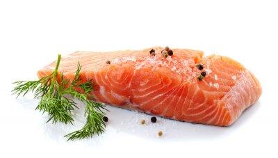 Adesivo salmone fresco crudo
