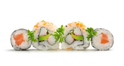 Adesivo salmone sushi maki e rolls california