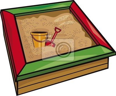 Adesivo sandbox con i giocattoli