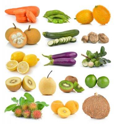 Adesivo Santol, carote, piselli, funghi, zucchine, limone macadamia, coc