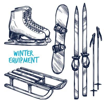 Adesivo Schizzo Sport invernale Oggetti