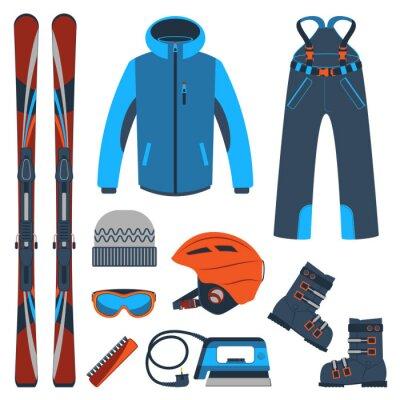 Adesivo Sciare. Estremi sport invernali.