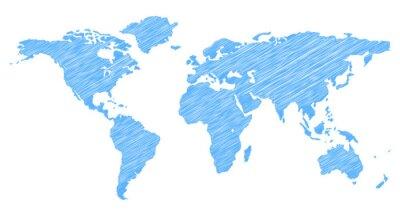 Adesivo Scribble World Map