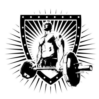 Adesivo scudo bodybuilder