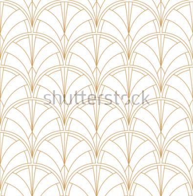 Adesivo Seamless Art Deco Pattern. Sfondo minimalista d'epoca. Illustrazione di lusso astratta.