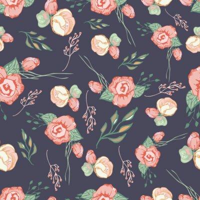 Adesivo Seamless colorati elementi seriali floreali 4