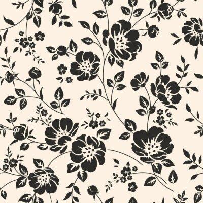 Adesivo Seamless pattern con fiori.