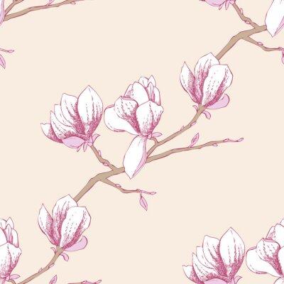 Adesivo Seamless pattern con magnolia_3-03
