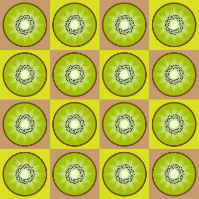 Adesivo Seamless pattern di kiwi