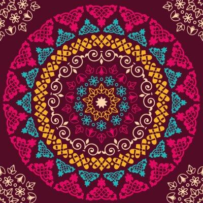 Adesivo Seamless pattern. elementi decorativi d'epoca