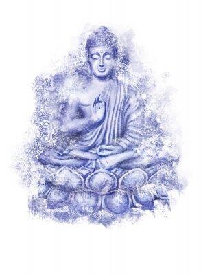 Adesivo Seated Buddha in a Lotus Pose
