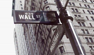 Adesivo Segni all'incrocio di parete e Broadway Streets