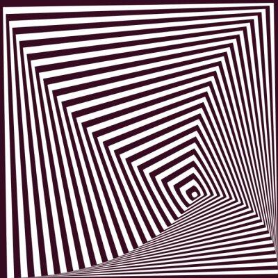 Adesivo semplice astratto strisce piramidale sfondo. illusione ottica t