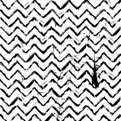 Adesivo senza soluzione di continuità astratto a zig zag in bianco e nero