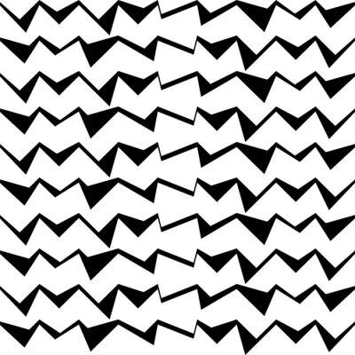 Adesivo Senza soluzione di continuità in bianco e nero sfondo decorativo vettoriale con motivo geometrico astratto
