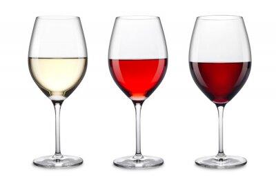 Adesivo servizio di bicchieri di vino