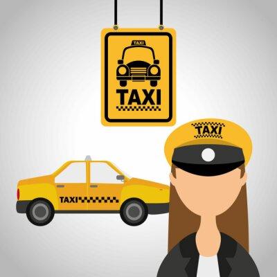 Adesivo servizio taxi
