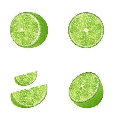 Adesivo Set di frutta Lime