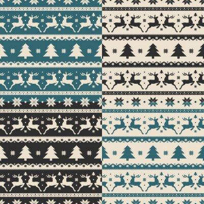 Adesivo Set di Natale e Capodanno modelli senza soluzione