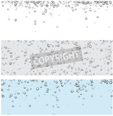 Adesivo Set di sfondi con bolle. Illustrazione di acqua vettoriale.