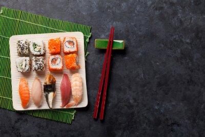 Adesivo Set di sushi e maki roll