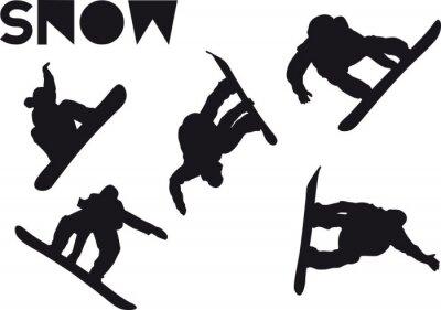 Adesivo set salto Druck Snowboarder