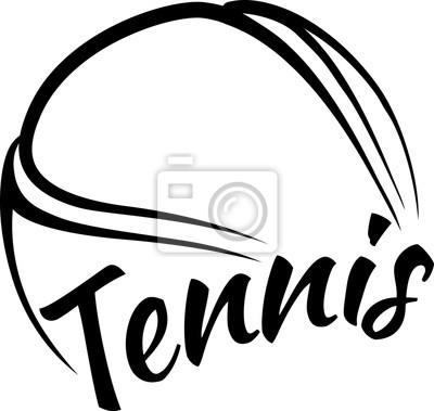 Adesivo Sfera di tennis con Fun Testo