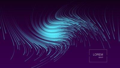 Adesivo Sfondo astratto Forme dinamiche colorate luminose. Illustrazione vettoriale Eps10.