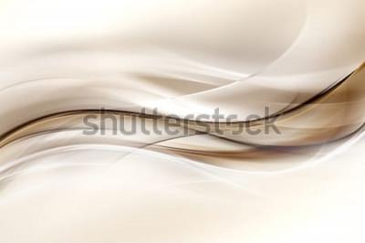 Adesivo Sfondo astratto marrone onda design