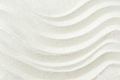 Adesivo Sfondo bianco texture sabbia con disegno wave