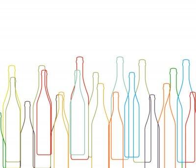 Adesivo Sfondo con bottiglie set