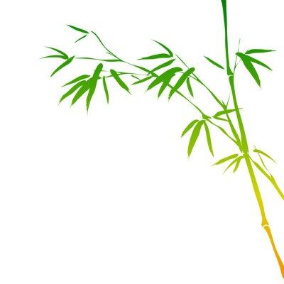 Adesivo sfondo con rami di bambù