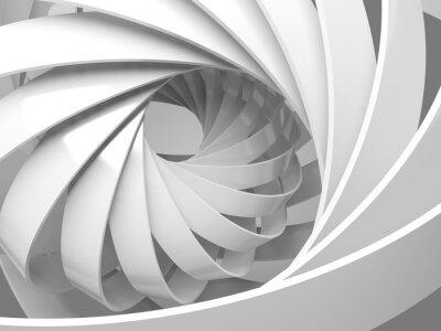 Adesivo sfondo digitale astratta con 3d struttura a spirale