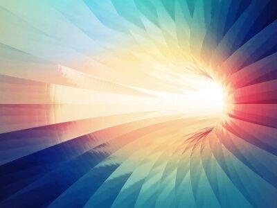 Adesivo sfondo digitale astratto. Colorful tunnel curvo