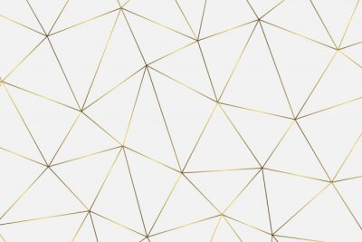 Adesivo sfondo geometrico dorato